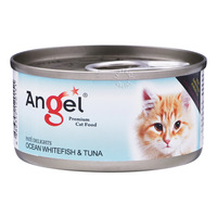 Angel Premium Can Cat Food - Ocean Whitefish & Tuna