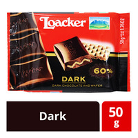 Loacker Chocolate and Wafer Bar - Dark
