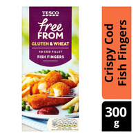 Tesco Free From Crispy Cod Fish Fingers