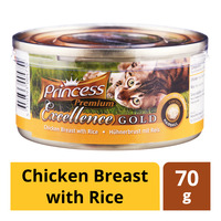 Princess Premium Can Cat Food - Chicken Breast with Rice