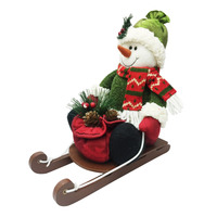 Christmas Decoration - Snowman in a Sliege