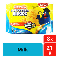 Mamee Monster Biskidz Biscuits - Milk