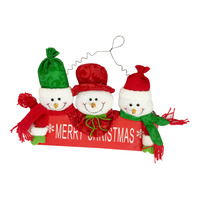 Christmas Hanging Ornament - 3 Santa (18 x 30cm)