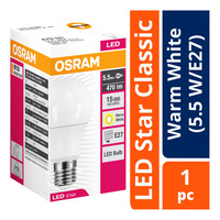 Osram LED Star Classic Bulb - Warm White (5.5 W/E27)