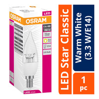 Osram LED Star Classic Bulb - Warm White (3.3 W/E14)