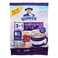 Quaker 3 in 1 Instant Oat Cereal Drink - Berry Burst