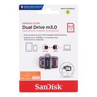 SanDisk Ultra Dual Drive m3.0 Flash Drive - 64GB