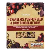 Tesco Cereal Bars - Cranberry, Pumpkin & Dark Chocolate 4 x 35G