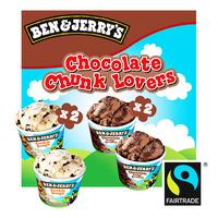 Ben & Jerry's Mini Cup Ice Cream - Chocolate Chunk Lovers