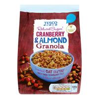 Tesco Granola - Cranberry & Almond (Reduced Sugar)