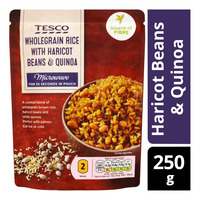 Tesco Instant Wholegrain Rice Pouch - Haricot Beans & Quinoa