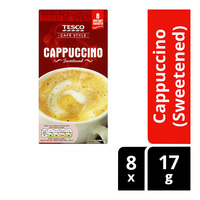 Tesco Cafe Style Instant Coffee - Cappuccino (Sweetened)