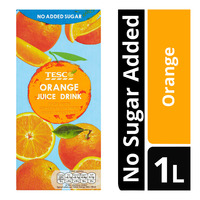 Tesco Juice Drink - Orange (No Sugar Added) 1L