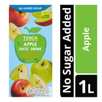 Tesco Juice Drink - Apple (No Sugar Added) 1L