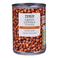 Tesco Green Lentils in Water