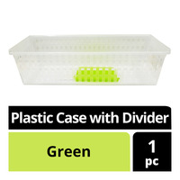 Imported Plastic Case with Divider - Green