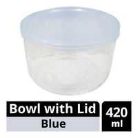 Imported Bowl with Lid - Blue