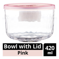 Imported Bowl with Lid - Pink