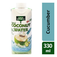 Coco Republic Natural Coconut Packet Water - Cucumber