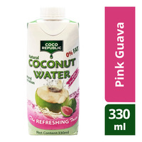 Coco Republic Natural Coconut Packet Water - Pink Guava