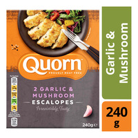 Quorn Frozen Escalope - Garlic & Mushroom