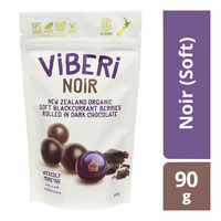 Viberi Organic Blackcurrant Rolled in Chocolate - Noir (Soft)