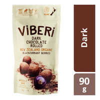 Viberi Organic Chocolate Rolled Blackcurrant - Dark