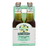 Somersby Bottle Cider - Apple with Elderflower Lime