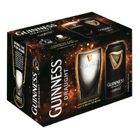 Guinness Can Beer - Draught + Free Glass Ware