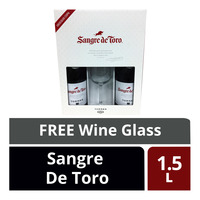 Torres Red Wine - Sangre De Toro + Free Wine Glass