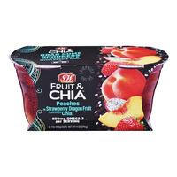 S&W Fruit & Chia Cups - Peaches in Strawberry Dragon Fruit