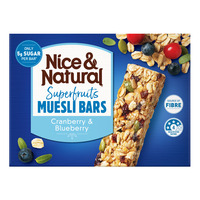 Nice & Natural Superfruits Muesli Bar - Cranberry & Blueberry