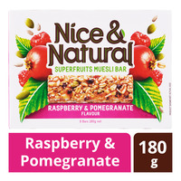 Nice & Natural Superfruits Muesli Bar - Raspberry & Pomegranate