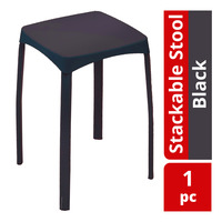 HomeProud Stackable Stool - Black