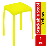HomeProud Stackable Stool - Yellow