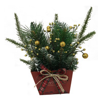 Christmas Table Top Decoration - Artificial Plant (Gold)