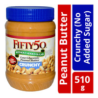 Fifty50 Low Glycemic Peanut Butter - Crunchy (No Added Sugar)