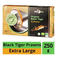 AquaNatur Organic Black Tiger Prawns - XL