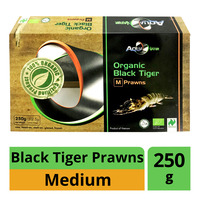 AquaNatur Organic Black Tiger Prawns - M