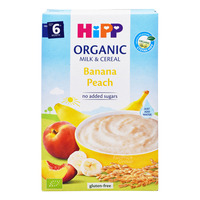 HiPP Organic Cereal Pap without Sugar - Banana Peach (6+ Months) 250G