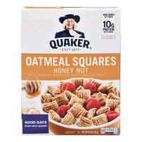 Quaker Oatmeal Squares Cereal - Honey Nut