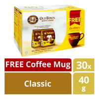Old Town 3 in 1 Instant White Coffee - Classic + Free Mug