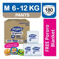 Drypers Drypantz Pants - M + Free Pororo Blanket