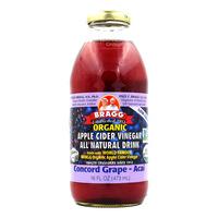 Bragg Organic Apple Cider Vinegar Drink - Concord Grape-Acai