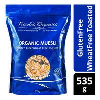 Nicola's Organics Organic Muesli - GlutenFree WheatFree Toasted
