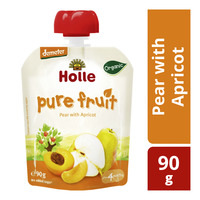 Holle Organic Baby Pure Fruit Pouch - Pear with Apricot