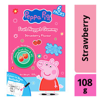 Peppa Pig Vitamin C Fruit Nugget Gummy - Strawberry