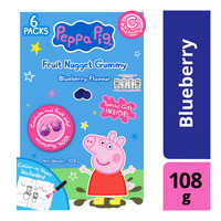 Peppa Pig Vitamin C Fruit Nugget Gummy - Blueberry