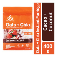 The Chia Co Oats + Chia Instant Porridge - Cacao + Coconut