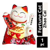 Imported Fortune Cat CNY Decoration - Zhao Cai